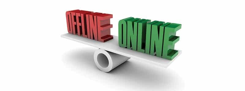 Is your Internet status offline more than online?